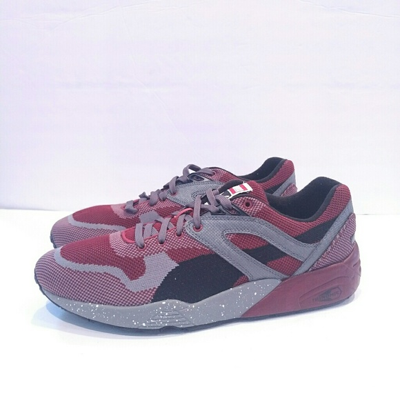 best service cea90 5b00c Puma Trinomic Flyknit Black red grey size 10.5. M 5adf97c58df470cf99d269db